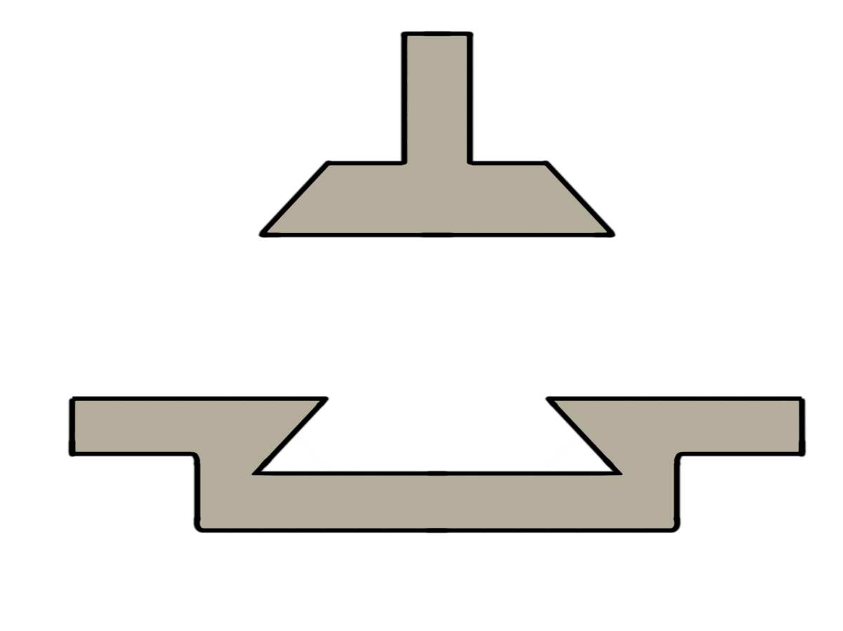 Extrusion process dovetail joints