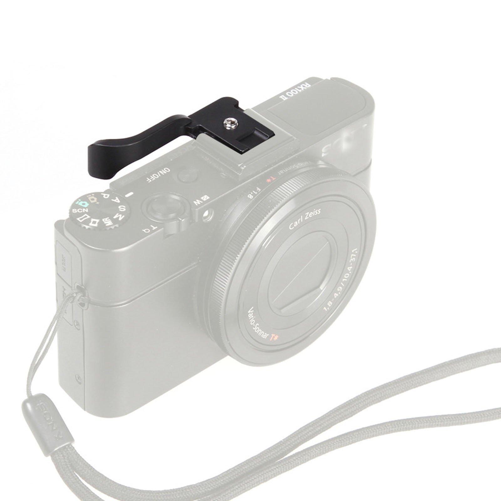 Black Thumb Up Grip For Fujifilm Fuji X10 X100 Panasonic