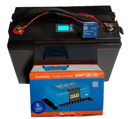 Victron Smart Solar 100 50 charging kit with LifePo4