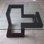 Mesa moderna de tubo y cristal