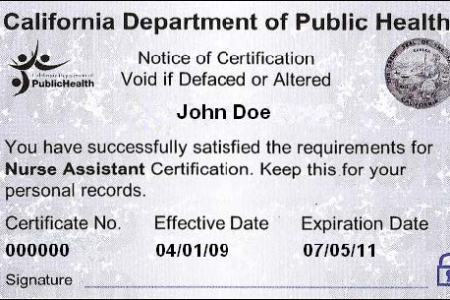 Free Resume 2018 » cna certification verification | Free Resume