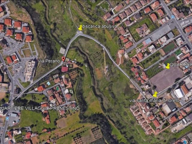 Istanza d'intervento urgente su Via Perano collegamento fra via Massa di San Giuliano di Castelverde e via Fosso dell'Osa di Villaggio Prenestino