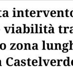 Richiesta intervento urgente viabilità trasporto pubblico zona lunghezzina 1-2 zona Castelverde Roma Est