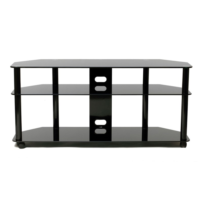 Luxurious Versatile Black Tv Stand Casters Tv Stand Wheels Canada