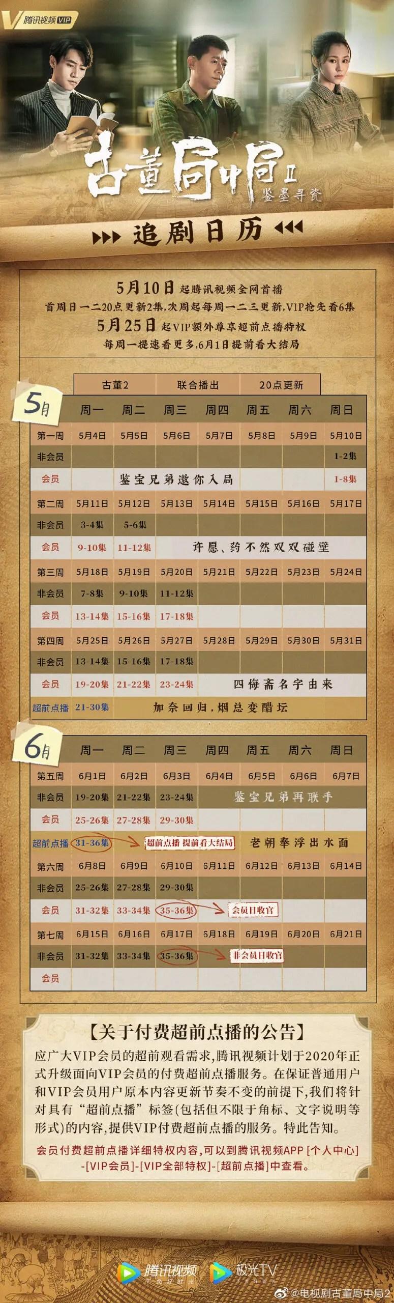 Antique Bureau Midgame Airing Calendar