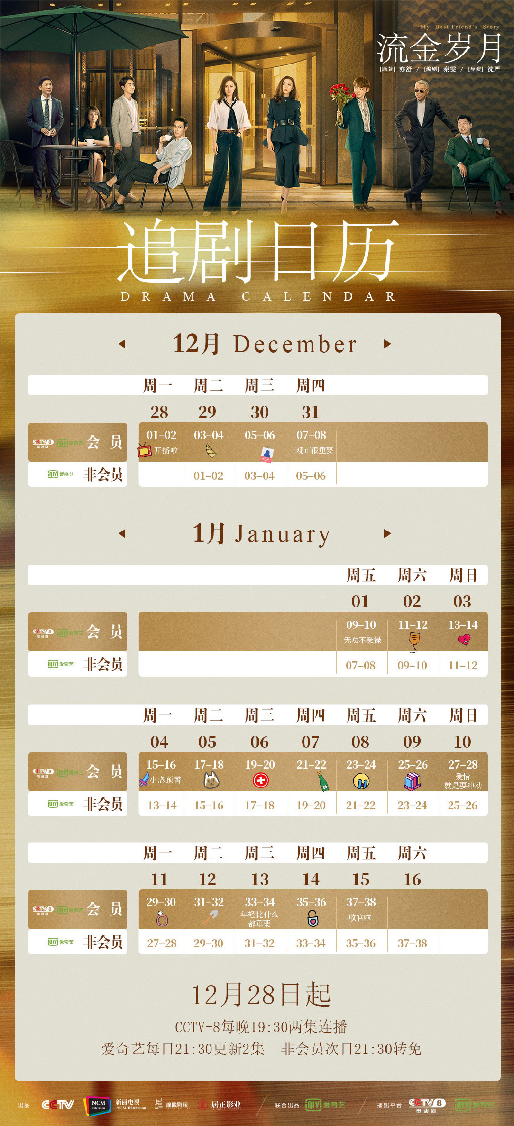 My Best Friend's Story Chinese Drama Airing Calendar