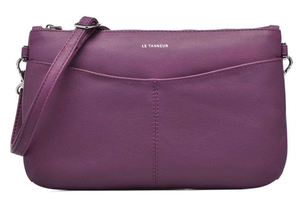 Borse Le Tanneur VALENTINE Pochette Zippe Viola Purple