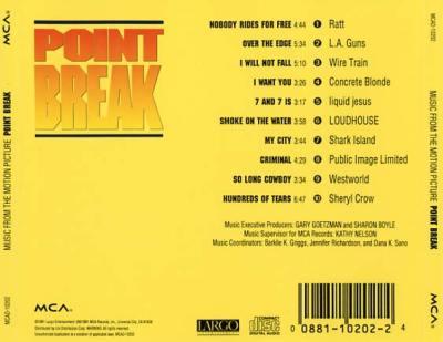 Point Break Soundtrack (1991) - CD Sniper Reference ...