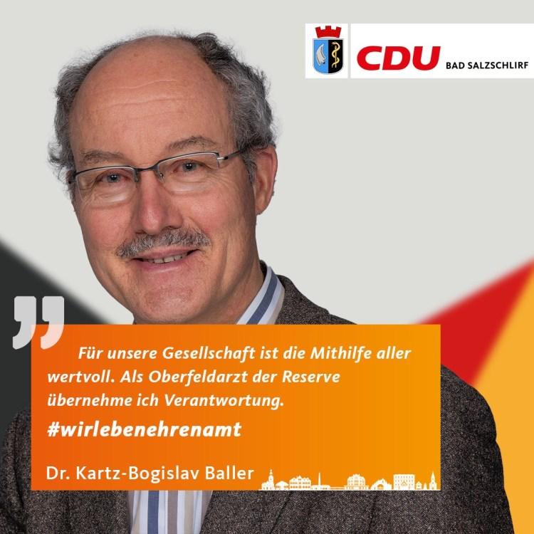 Dr. Kartz- Bogislav Baller, Listenplatz 6