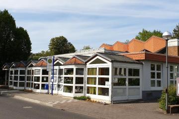 Die Gemeindebücherei in der Bahnhofstraße