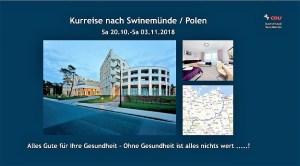 Kurreise nach Swinemünde / Polen vom 20. Oktober - 03. November 2018