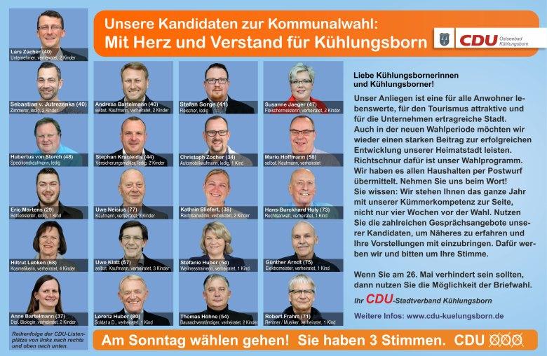 Mit Herz und Verstand  ~ CDU Kühlungsborn
