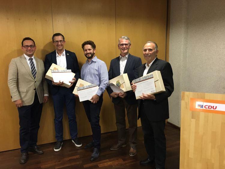 v. l. Markus Töpfer, Marcus Reif, Jerome Wagner, Heinz Lauck, Vassilios Konstantinidis