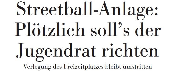 Höchster Kreisblatt: Streetball-Anlage: Plötzlich soll's der Jugendrat richten