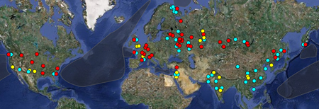 Some 23,300 nuclear weapons are stored at 111 locations around the world