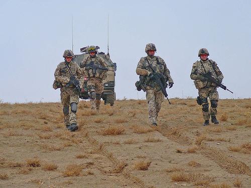 German soldiers patrol outside Mazar-e-Sharif, Afghanistan
