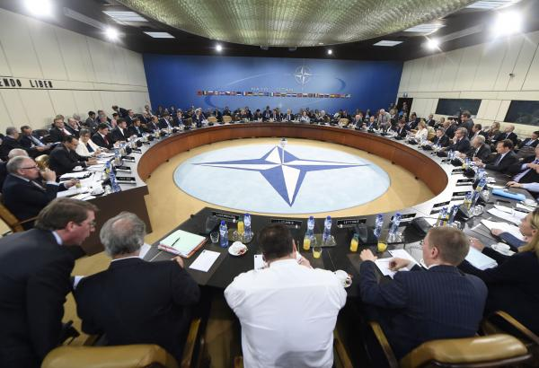 Foreign affairs ministers meet for a NATO-Ukraine Commission in June 2014 - NATO Photo