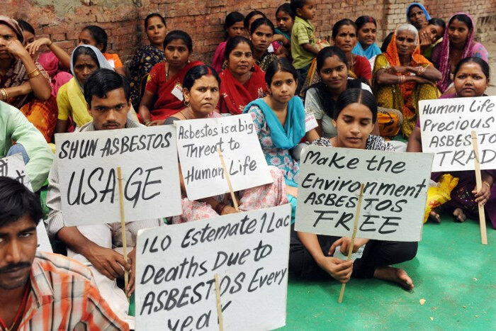 Asbestos Protest
