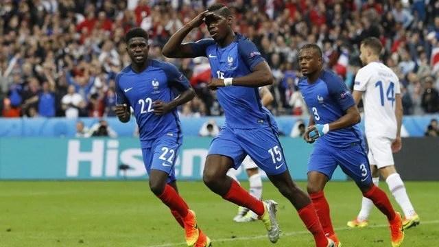 Em sua melhor partida no torneio, a França goleou a Islândia e fará a semifinal com a Alemanha. - Foto: GE