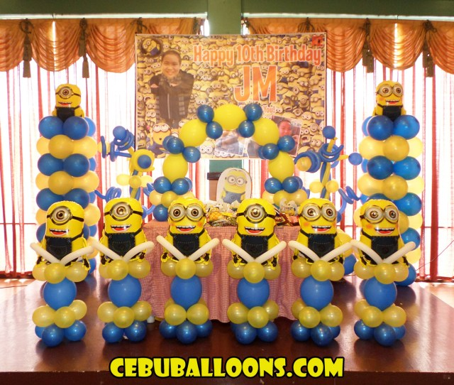 Minions Balloon Decoration Jms 10th Birthday At Hannahs Party Place