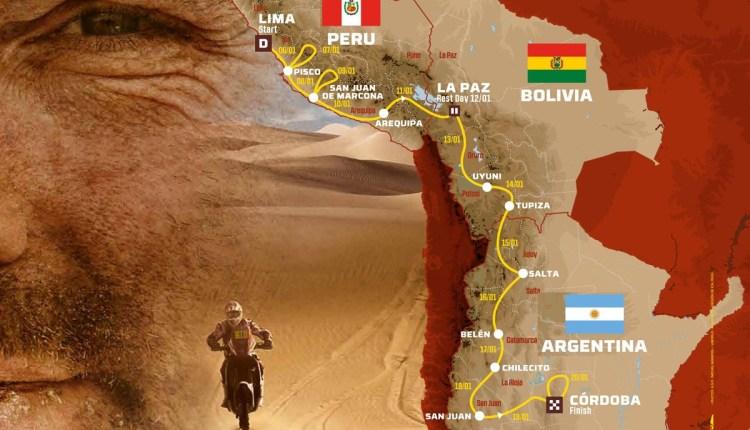 Mapa Dakar 2018