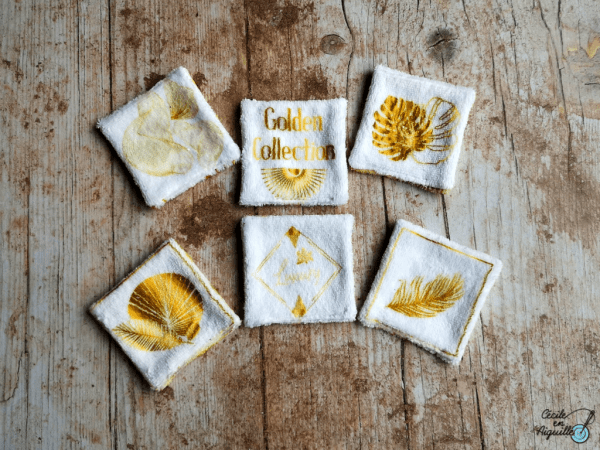 "Les lingettes 100% éponge ""Golden Collection"""