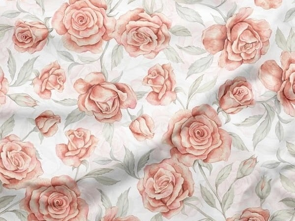 Coton roses roses