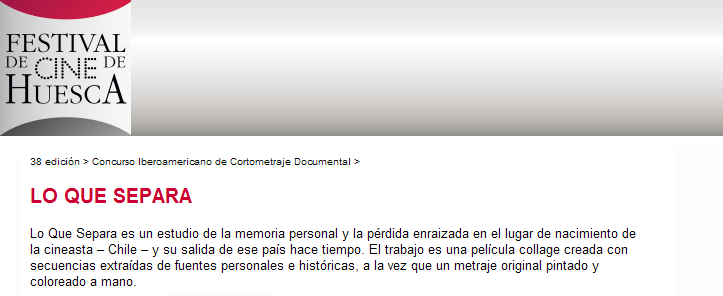"""""""What Comes Between"""" to screen in Huesca, Spain"""