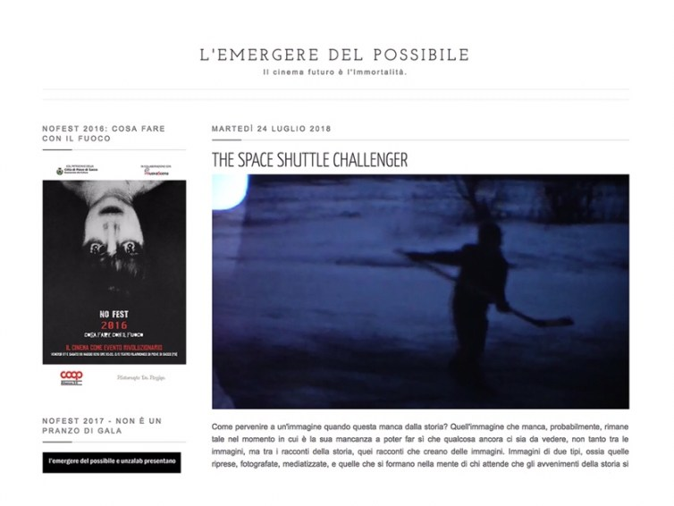 Analysis of The Space Shuttle Challenger in Italian film blog