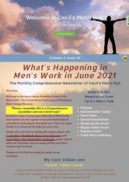 Cecil's Men's Hub Event Newsletter ~ Volume 3, Issue 36