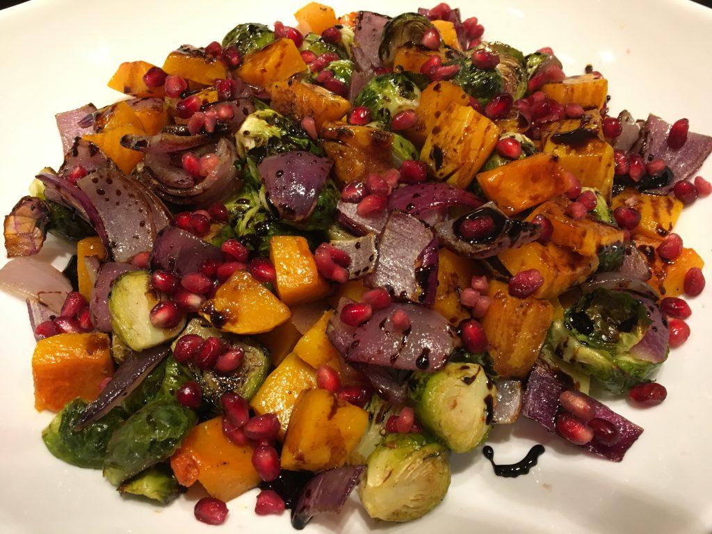 Gorgeous roasted veggies