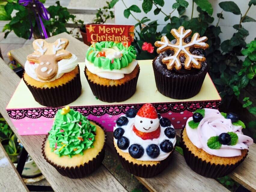 cupcakes decorados de navidad