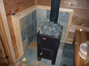 sauna wood burning stove