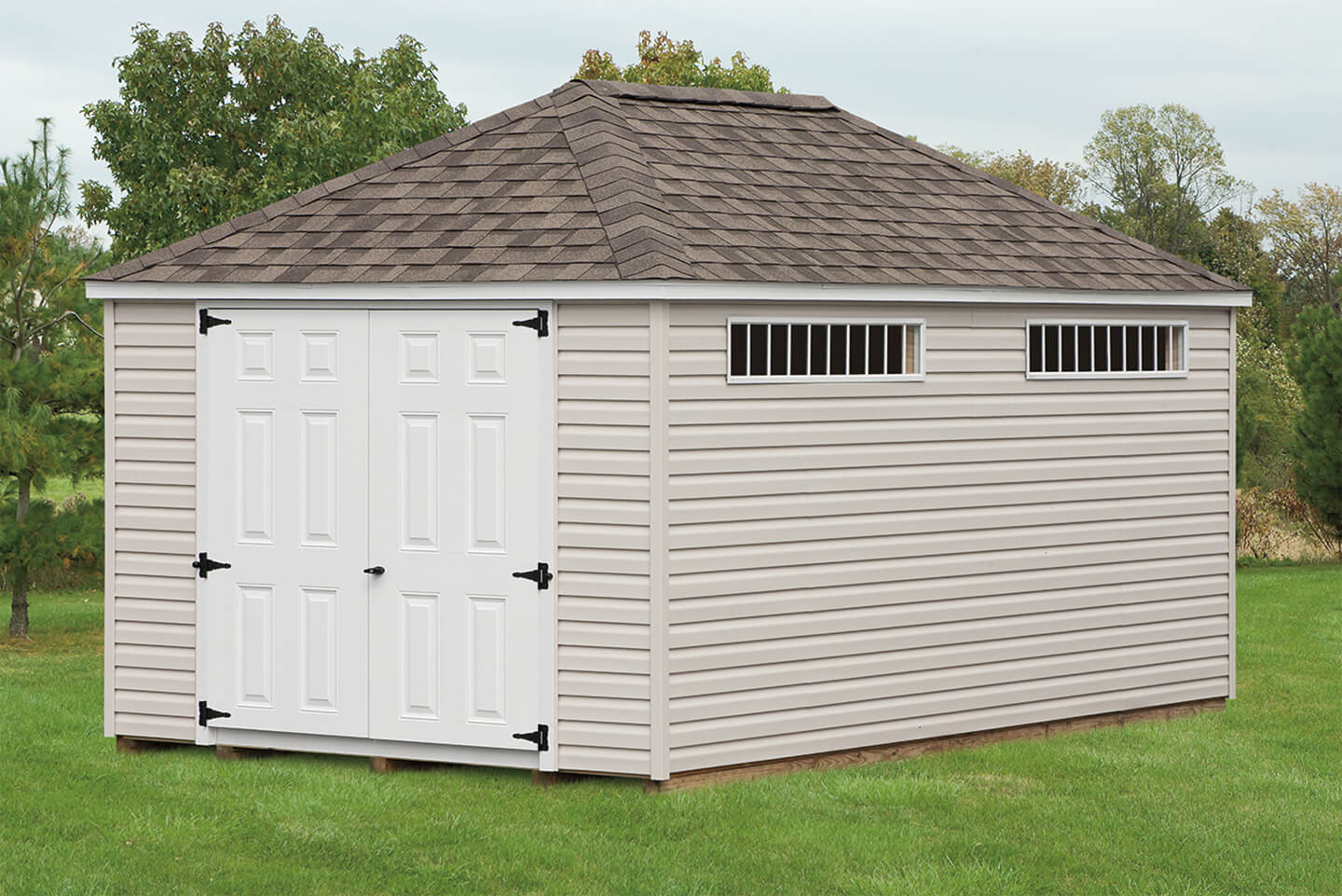 Mini Barn Amp Hip Roof Sheds Cedar Craft Storage Solutions