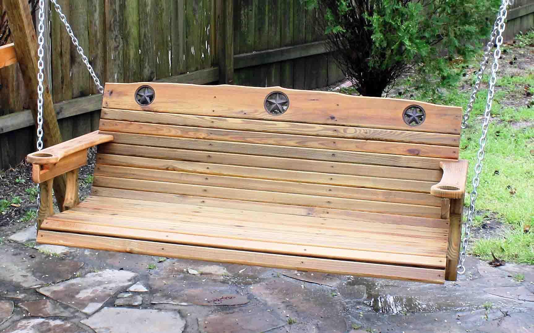 Pdf plans rustic porch swing plans download blanket chest for Log porch swing plans