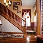 Cedar House Inn wedding - bride entrance