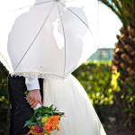 Cedar House Inn Wedding - Kiss Parasol