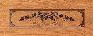D1 Bless Our Home Grape Design