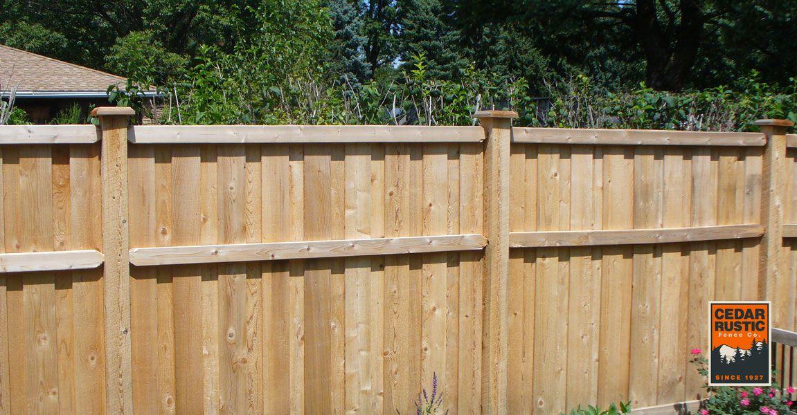 Traditional Stack Board On Batten Cedar Rustic Fence Co