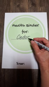 organizing a medical binder for your special needs baby