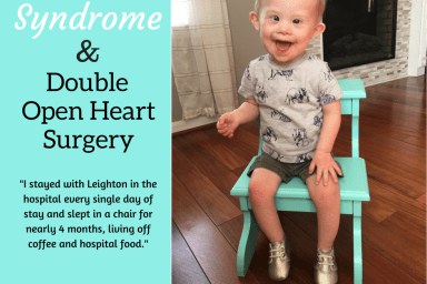 down syndrome and double open heart surgery