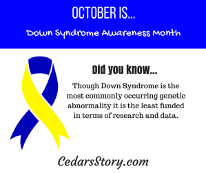 October Down Syndrome Awareness Facts Day# 15