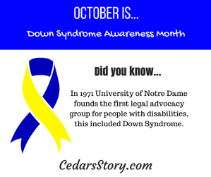 October Down Syndrome Awareness Facts #18