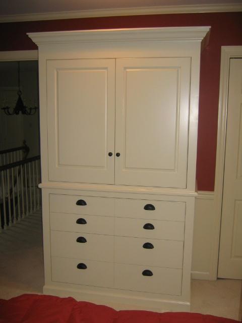 Master Bedroom TV Armoire - Cedars Woodworking & Renovations