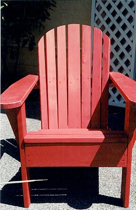 Red-Adirondack-Chair-Cedarworkshop