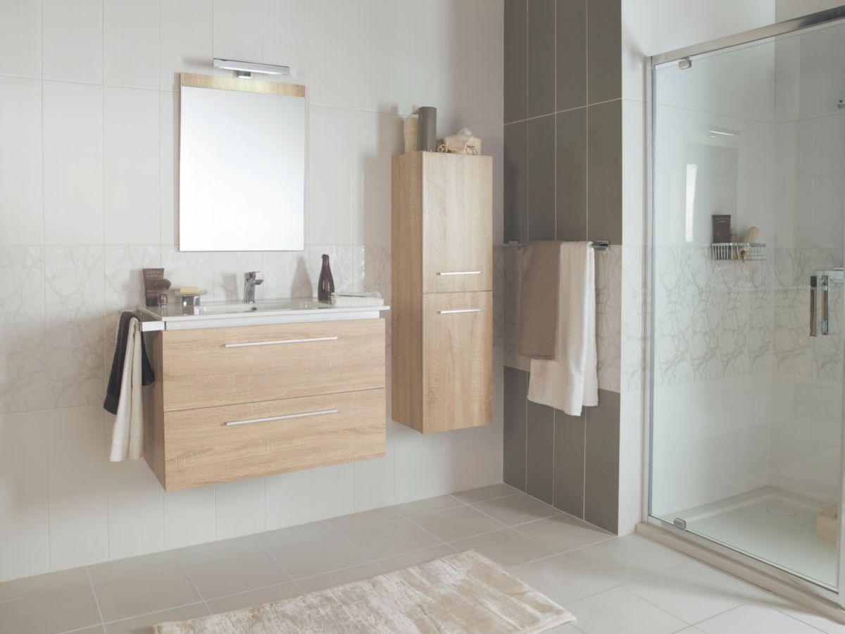 Arte Home Carrelage Mural Interieur Faience Guimauve Blanc 20x60 Cm Cedeo