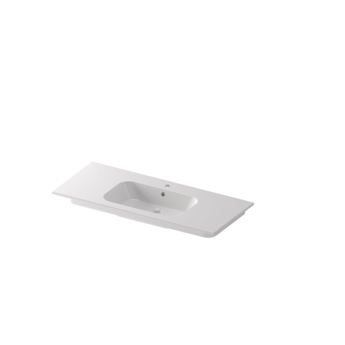 Alterna Plan De Toilette All Day 120 Cm Vasque Centree En Ceramique Cedeo