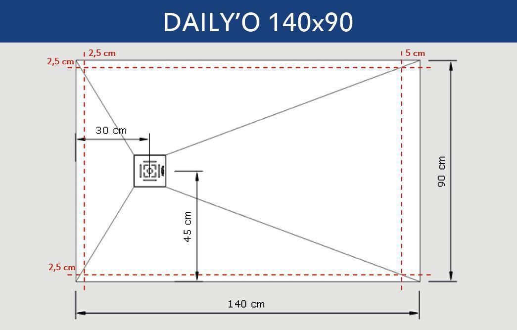 alterna receveur daily o 140 x 90 cm