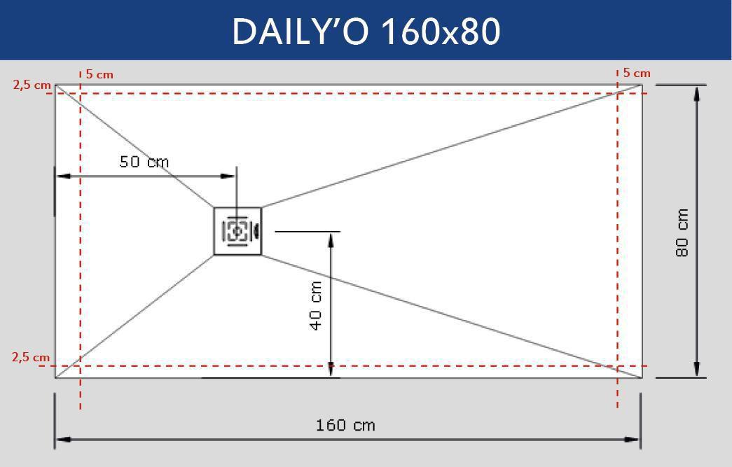 alterna receveur daily o 160 x 80 cm