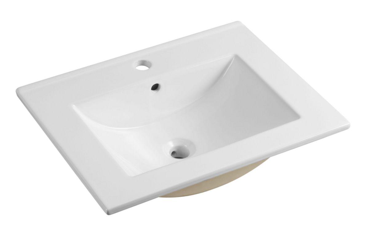 Alterna Plan Ceramique Concerto 60 Cm Vasque Centree Cedeo